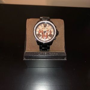 Michael Kors Black/Rose Gold Watch